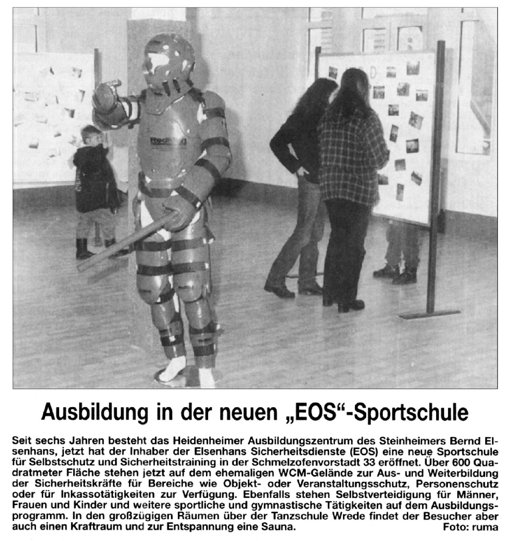 """Ausbildung in der neuen """"EOS""""-Sportschule"""