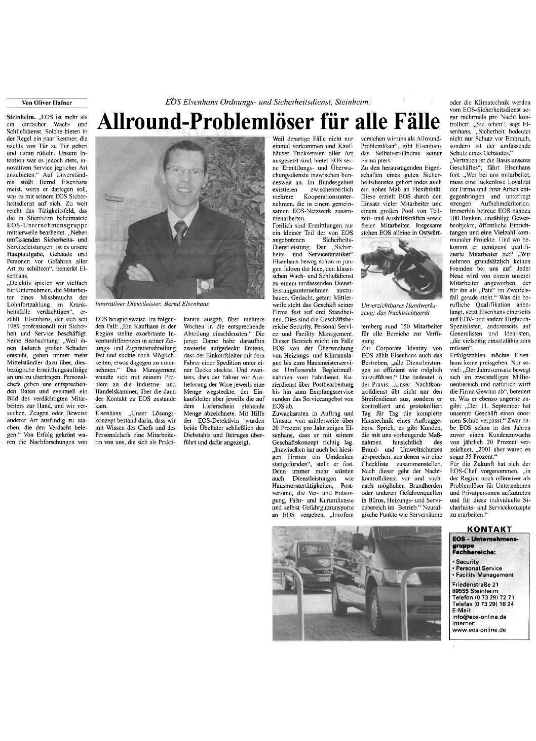 Allround-Problemlöser für alle Fälle