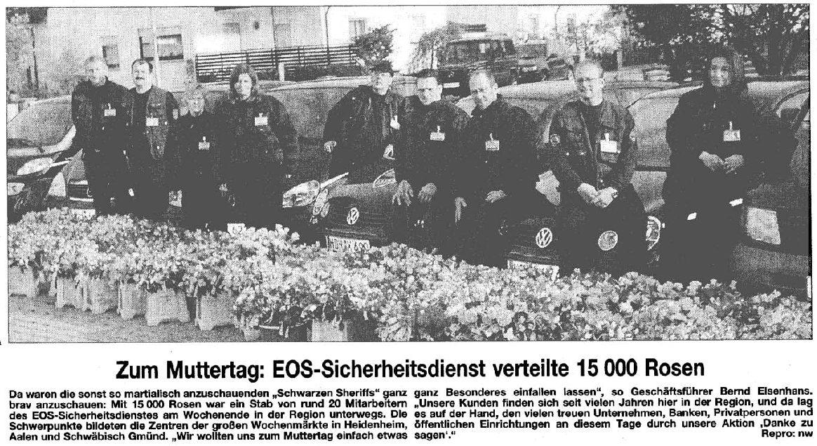 EOS verteilt 15 000 Rosen