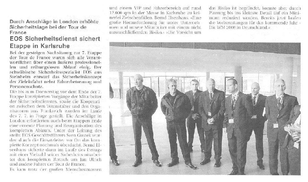 EOS sichert Etappe in Karlsruhe
