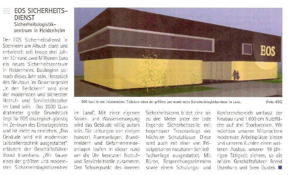 Sicherheitslogistikzentrum in Heidenheim