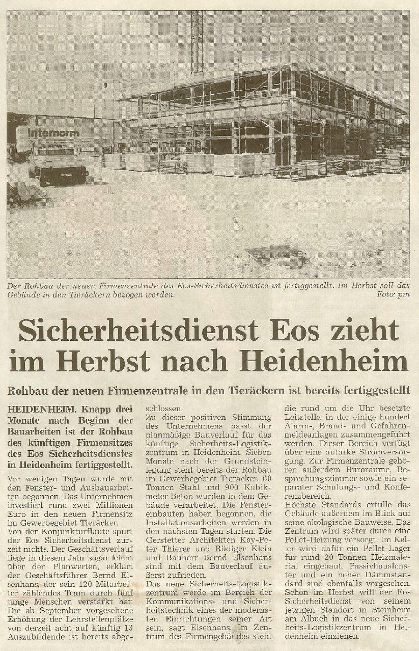 EOS zieht im Herbst nach Heidenheim