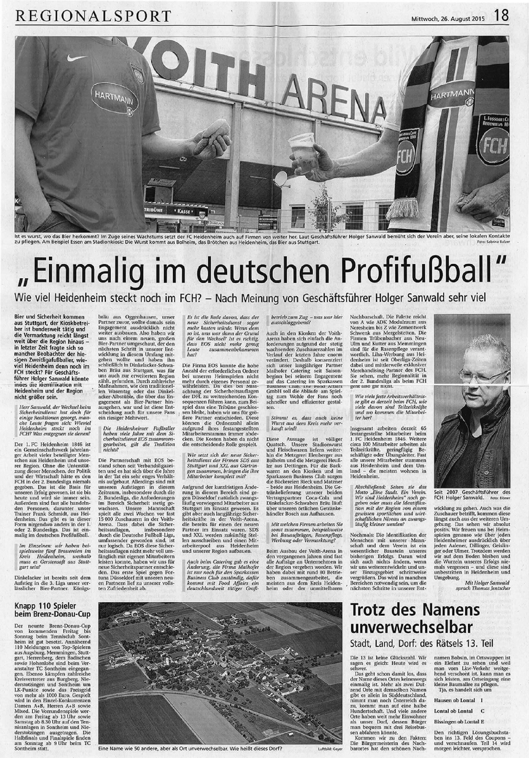 """""""Einmalig im deutschen Profifußball"""""""