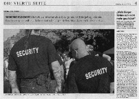 """""""Viele Bürger fühlen sich nicht mehr geschützt"""""""