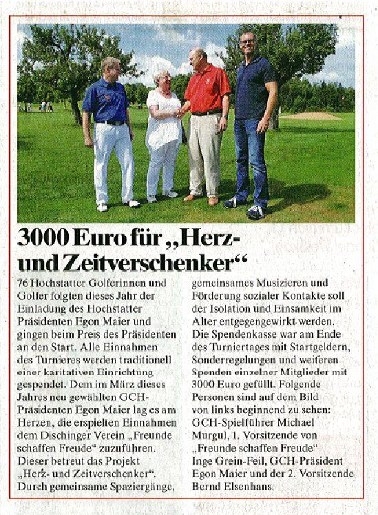 """3000 Euro für """"Herz- und Zeitverschenker"""""""