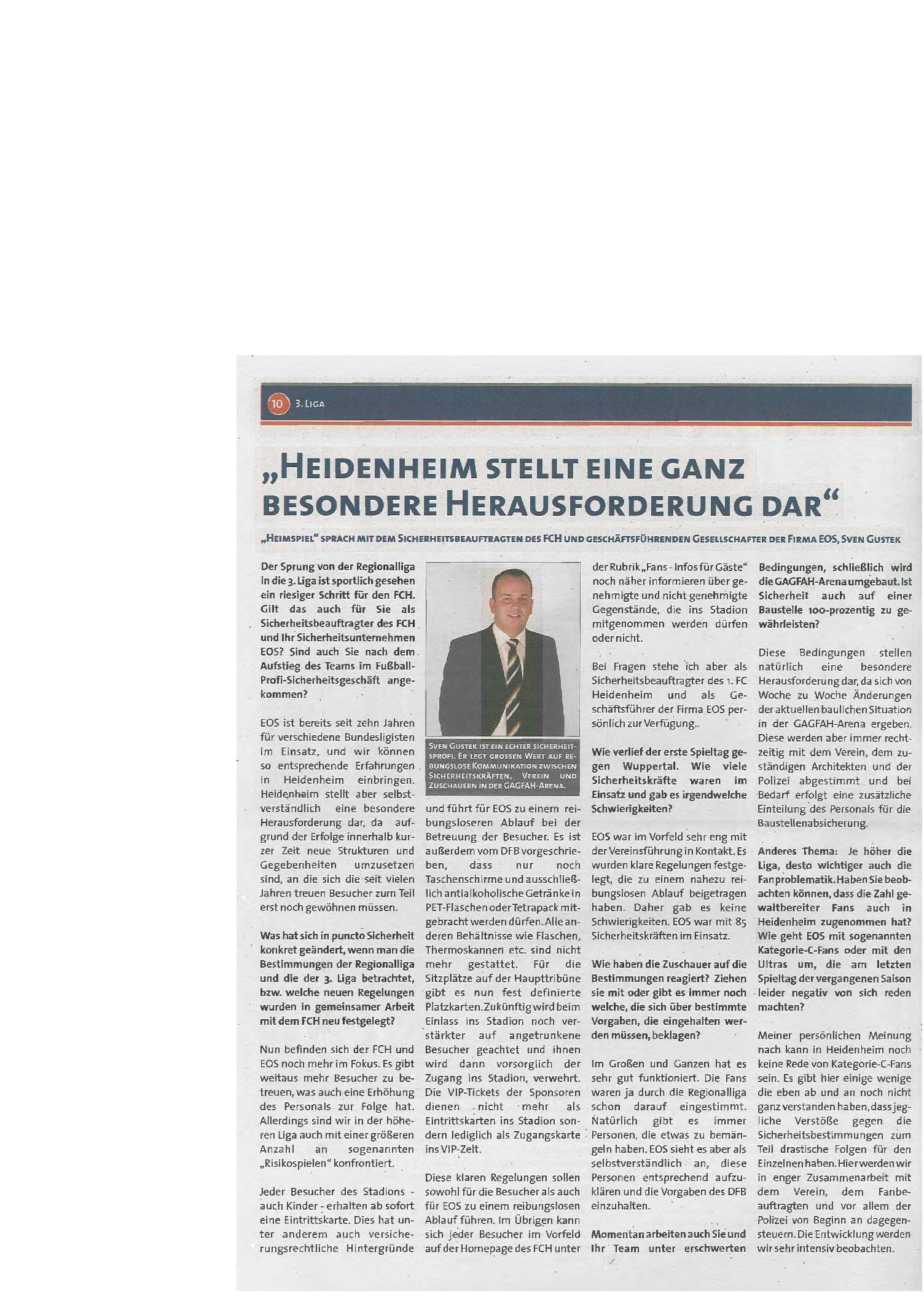 """Heidenheim als """"ganz besondere Herausforderung"""" – Interview Sven Gustek"""
