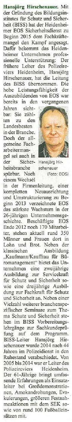 Personalia Hirschenauer