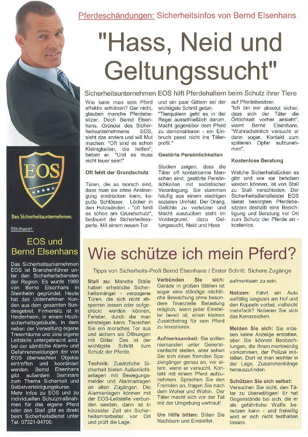 """""""Hass, Neid und Geltungssucht"""" – Pferdeschändungen"""