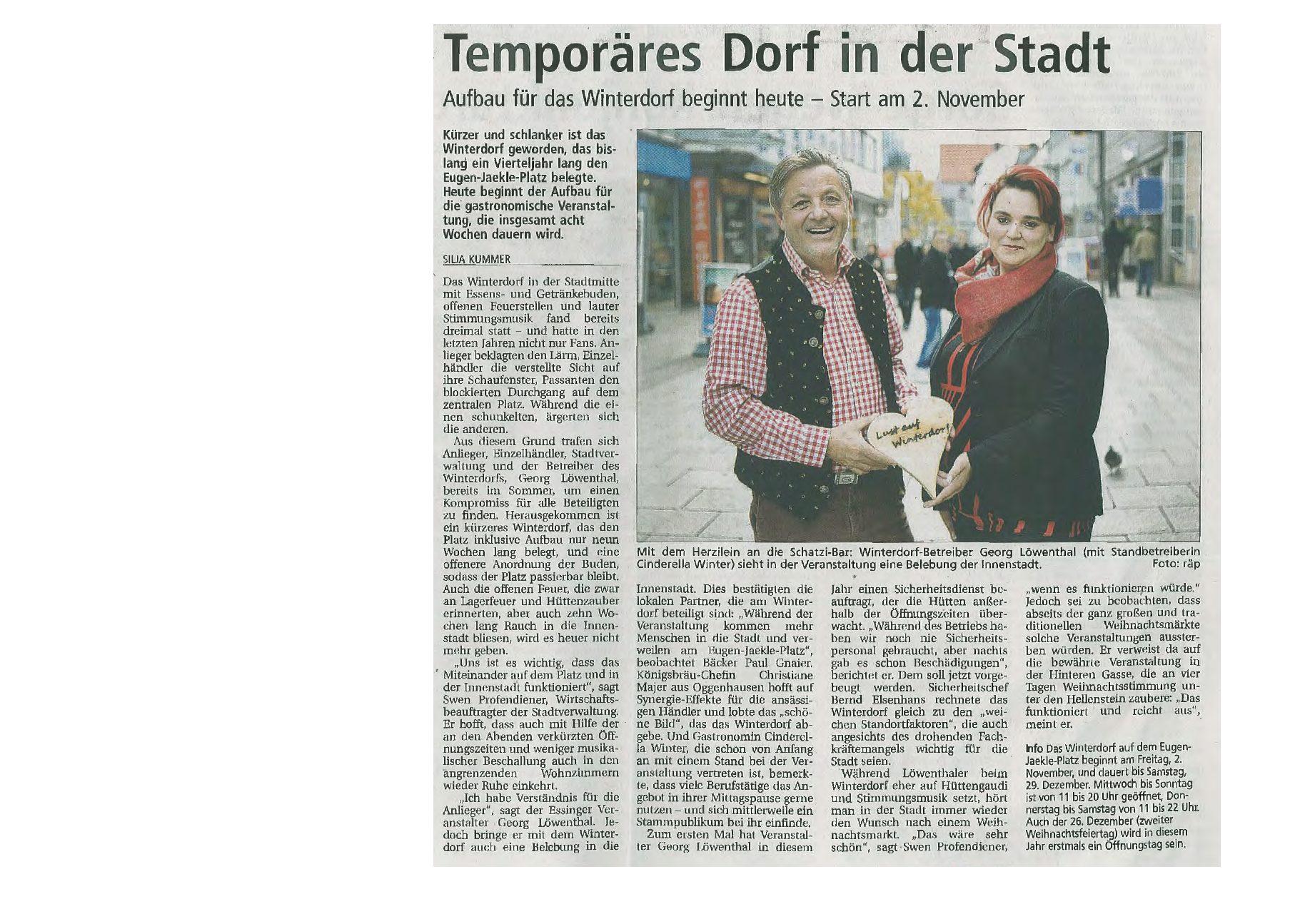 Sicherheit für das Heidenheimer Winterdorf