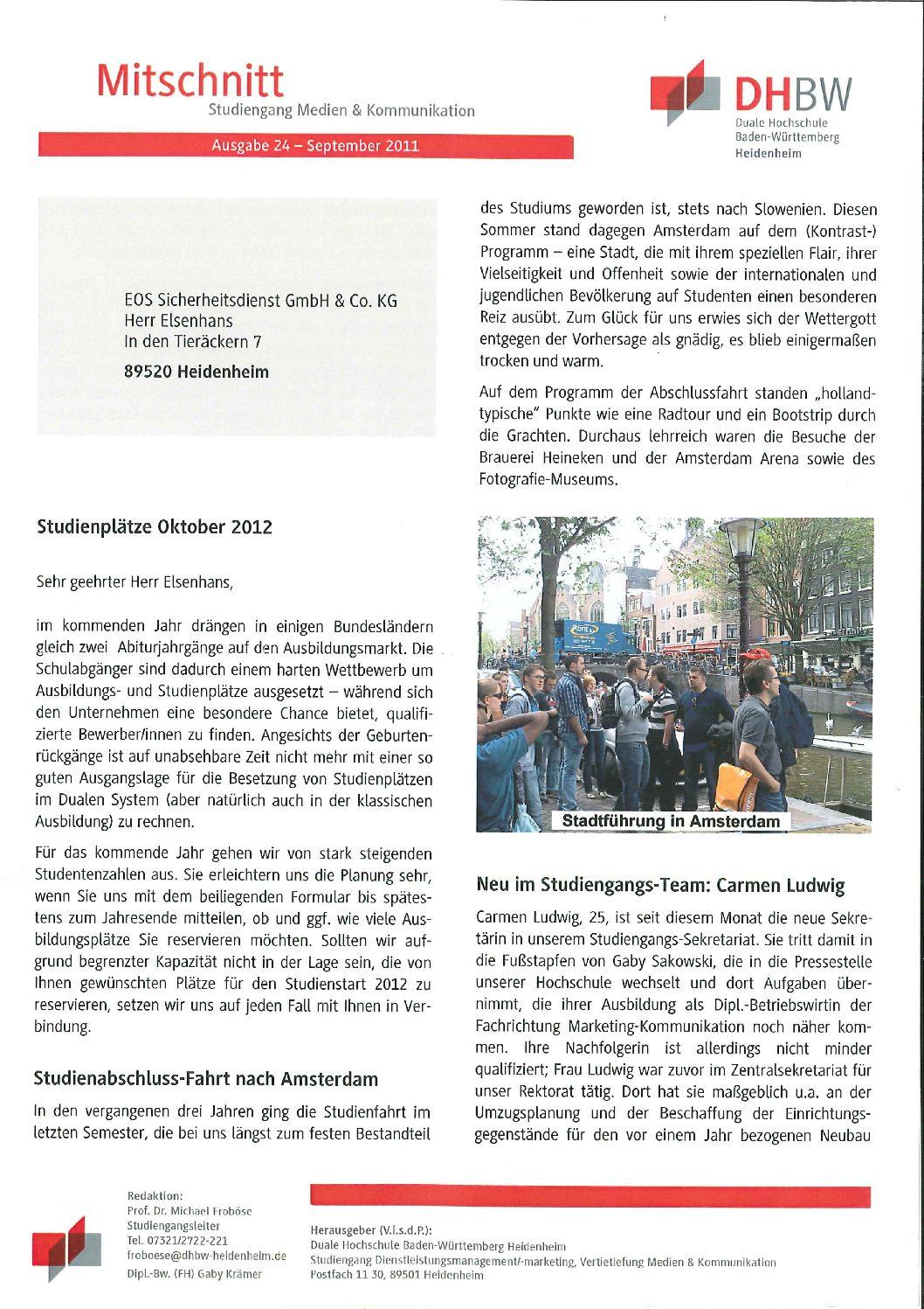 Mitschnitt DHBW Heidenheim