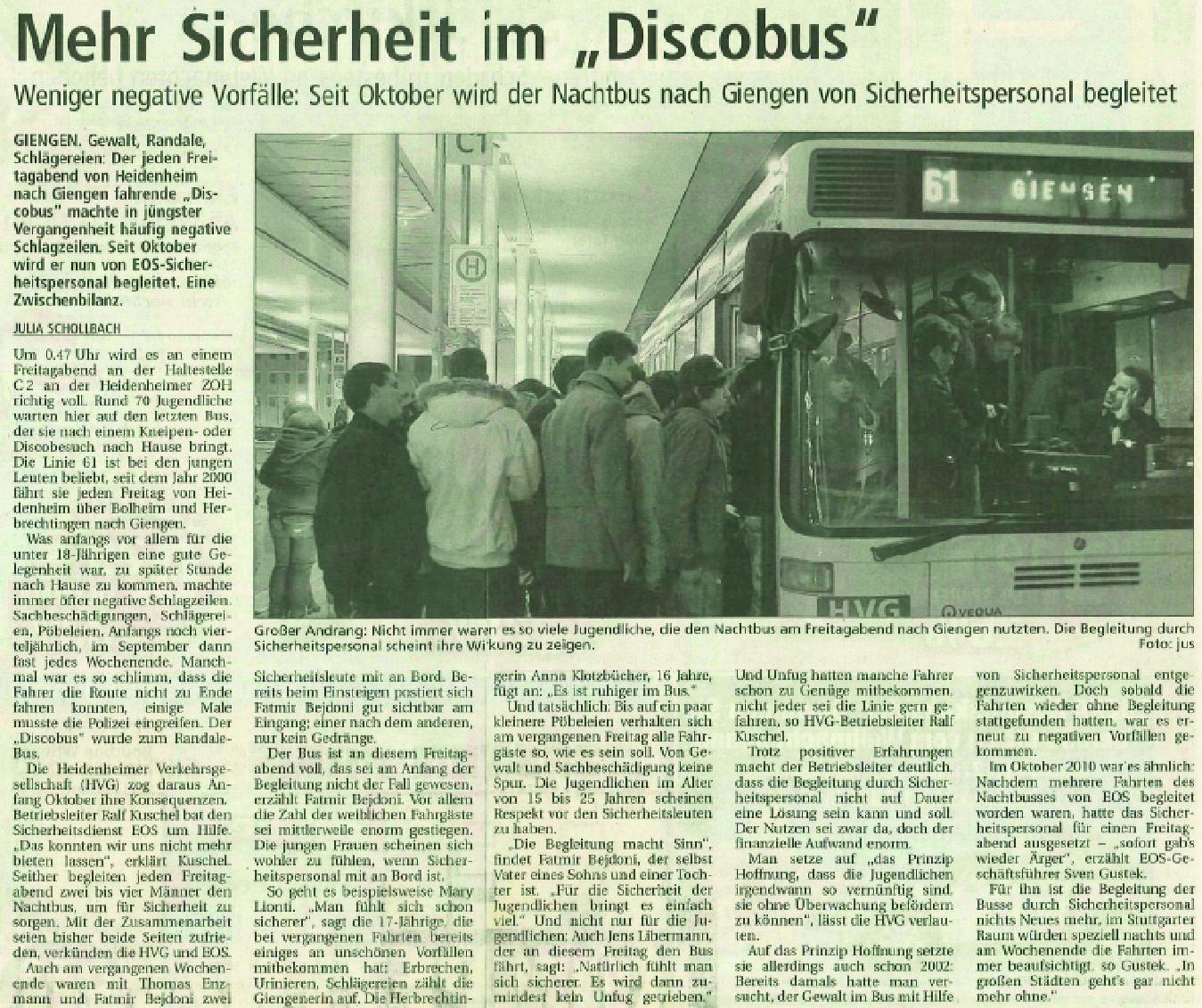 """Mehr Sicherheit im """"Disco-Bus"""""""