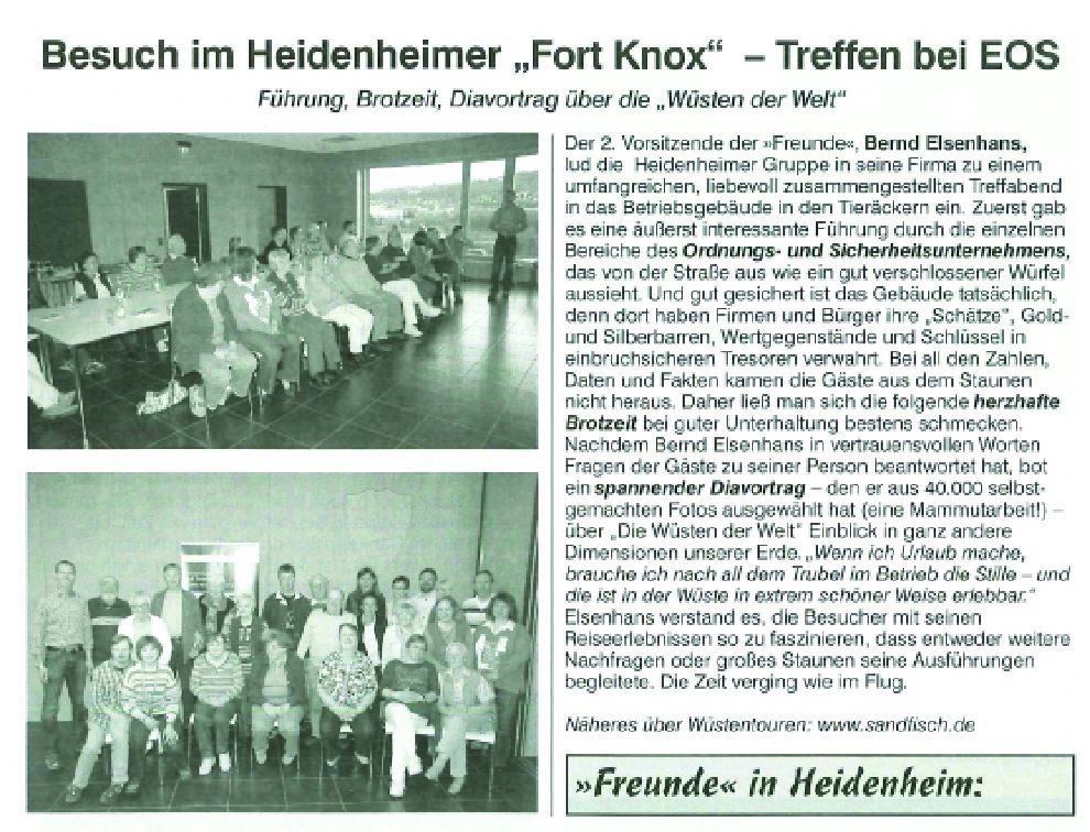 """Besuch im Heidenheimer """"Fort Knox"""" – Treffen bei EOS"""
