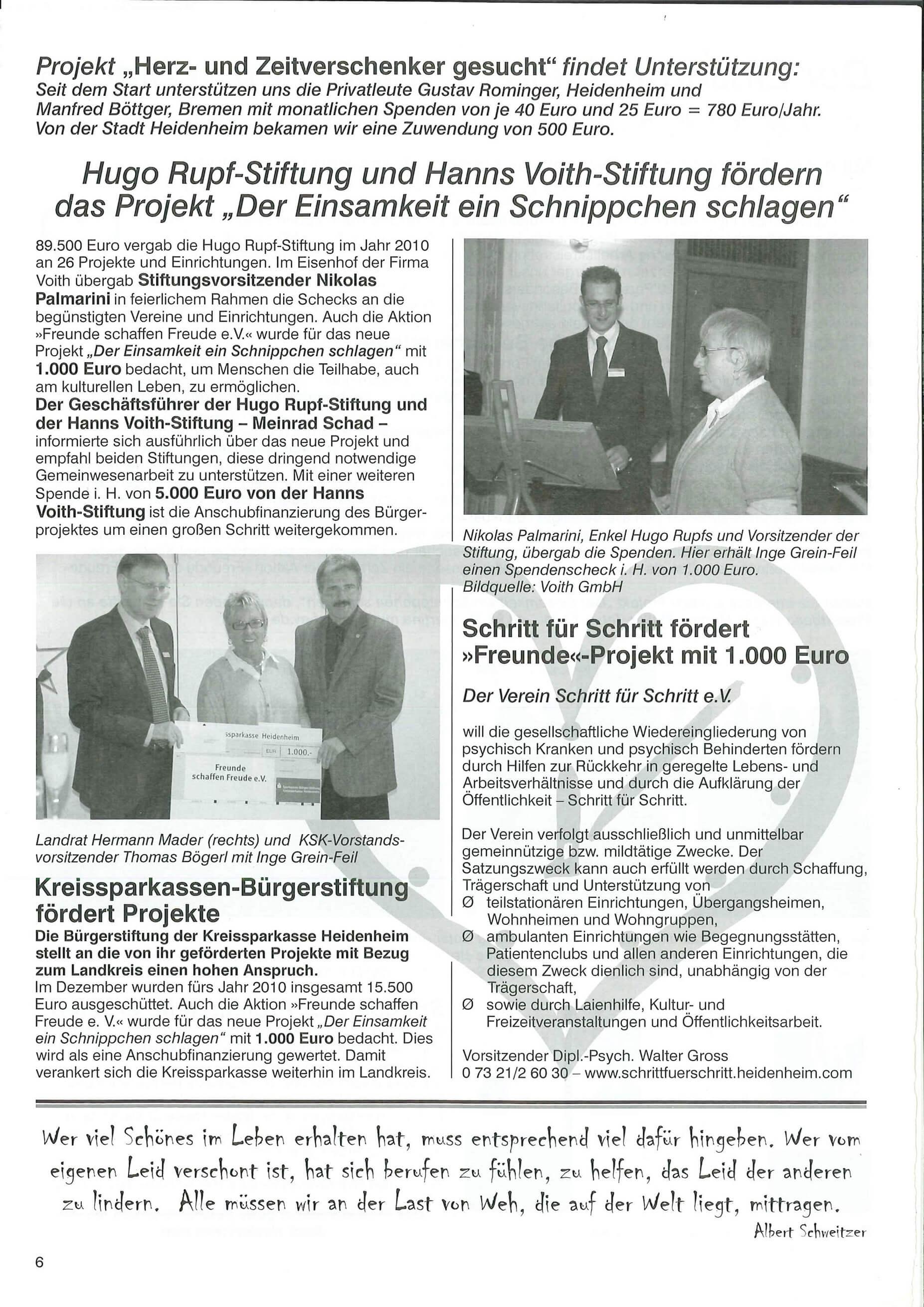 """Projekt """"Herz- und Zeitverschenker gesucht"""""""