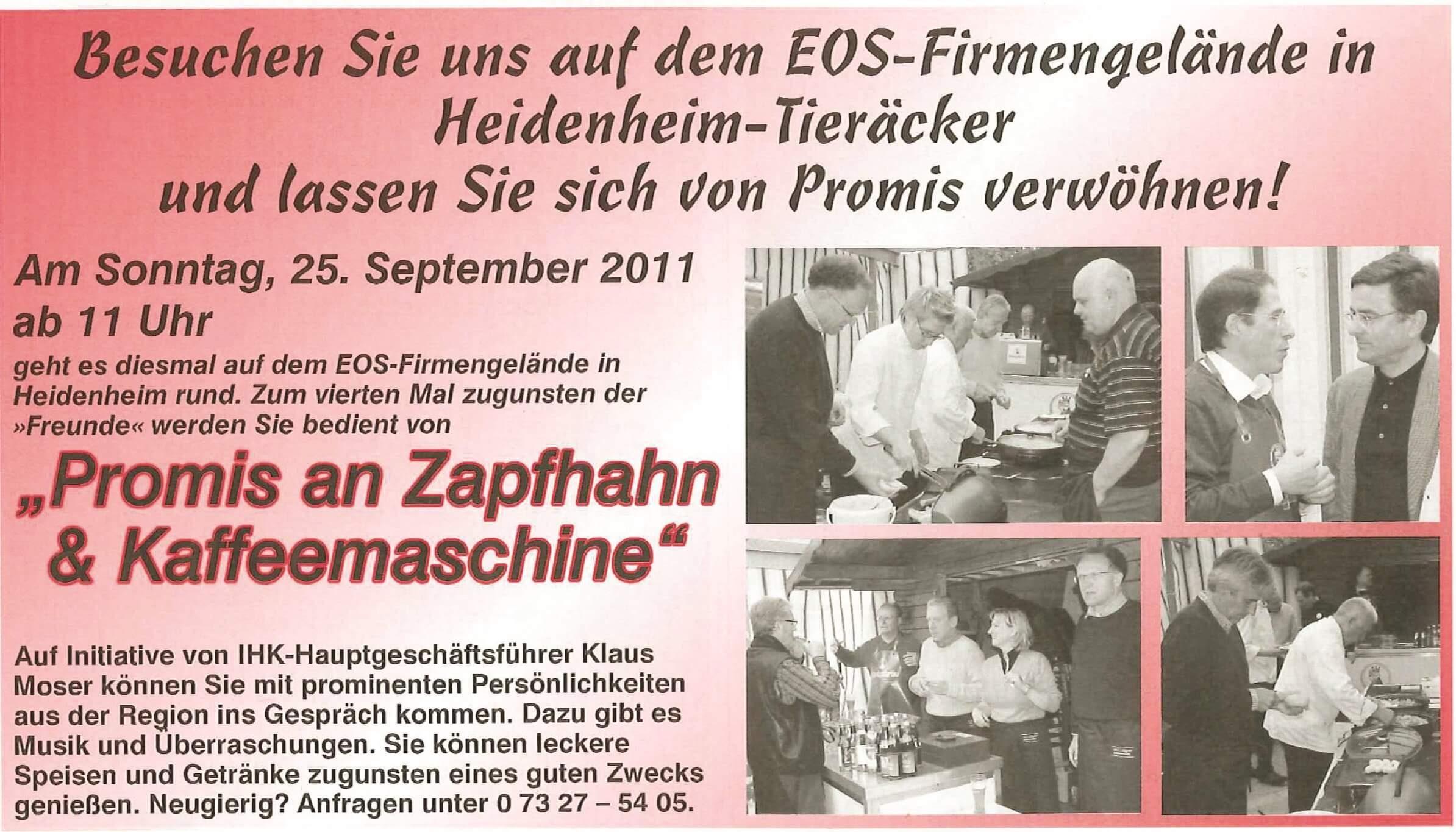 """Promis an Zapfhahn & Kaffeemaschine"""