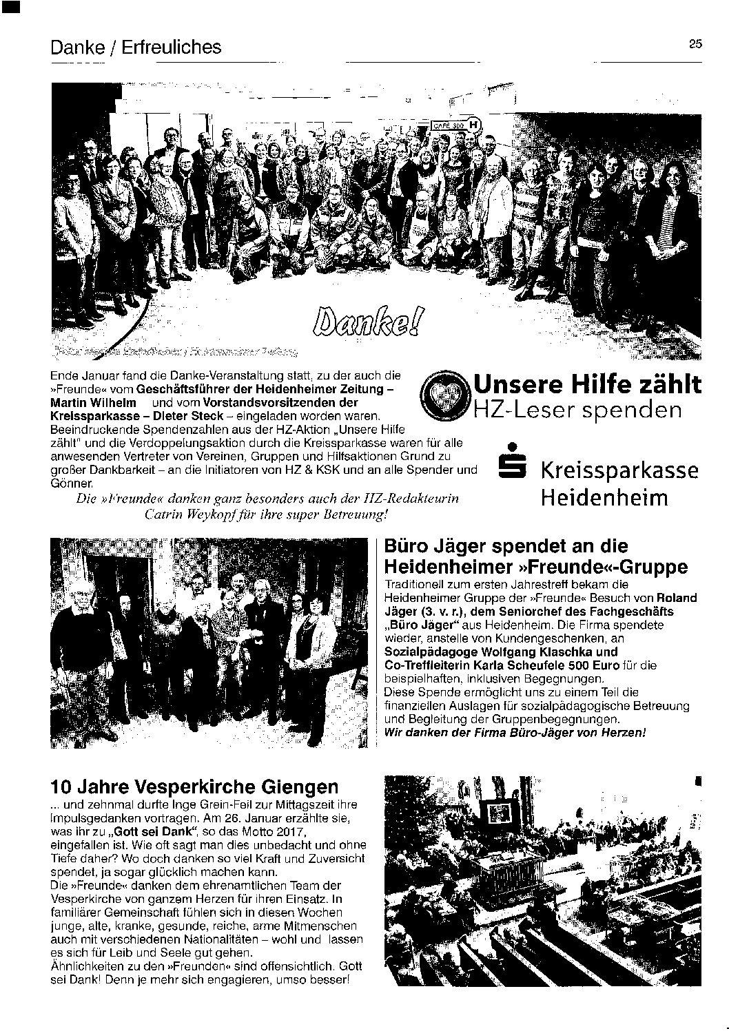"""Sammlung """"Freunde schaffen Freunde"""""""