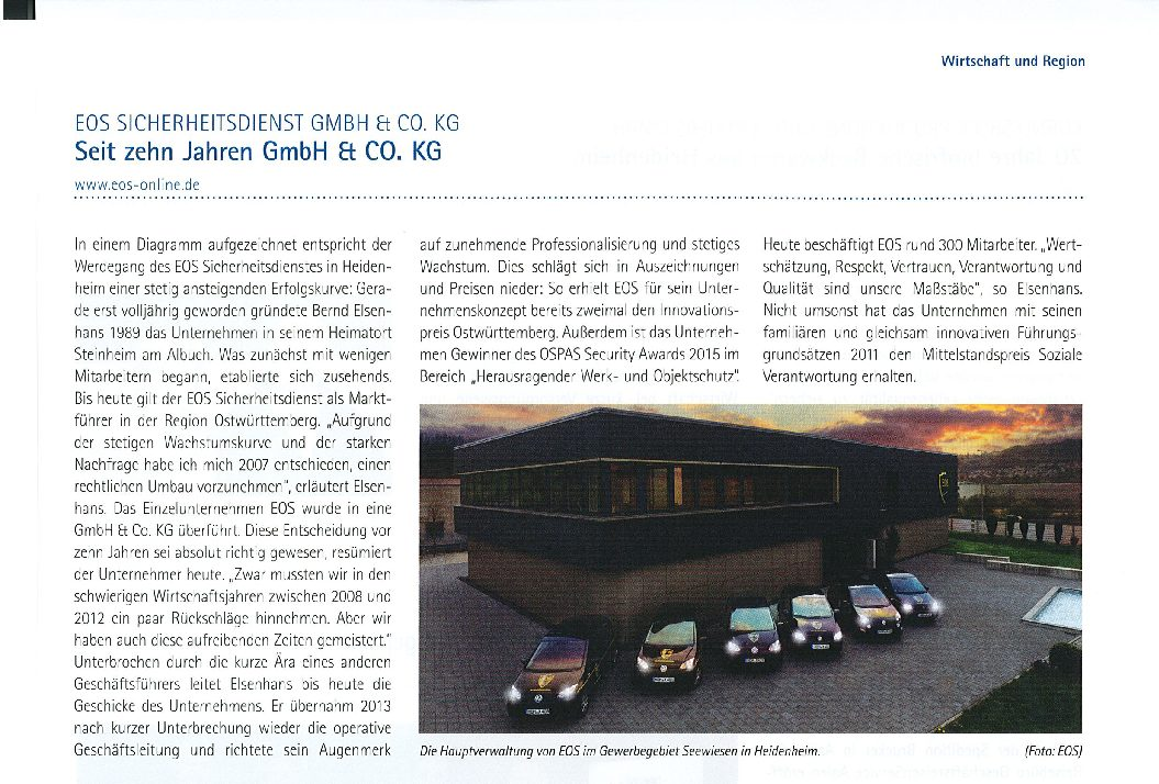 Seit zehn Jahren GmbH & Co. KG