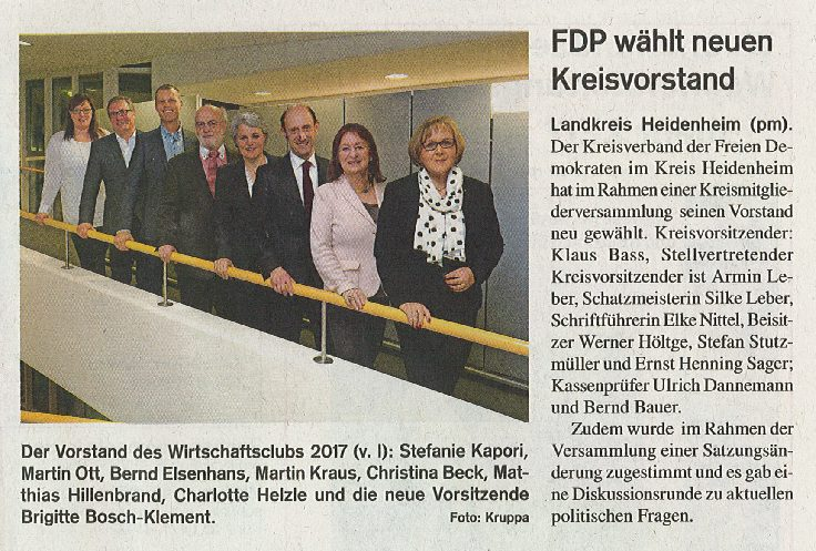 FDP wählt neuen Kreisvorstand