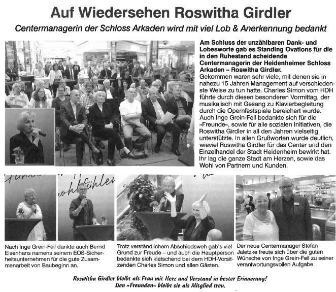 Auf Wiedersehen Roswitha Girdler