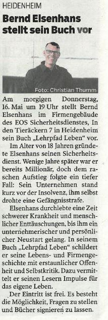 Bernd Elsenhans stellt sein Buch vor