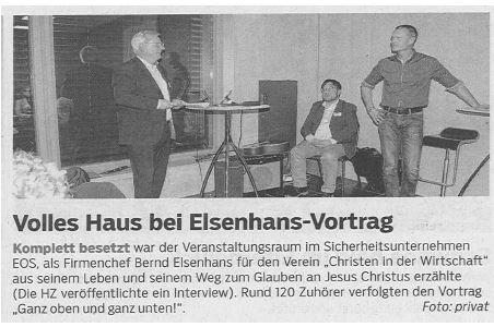 Volles Haus bei Elsenhans-Vortrag