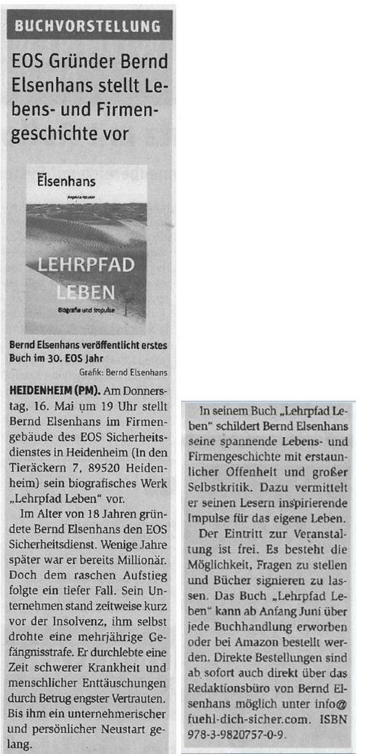Buchvorstellung Bernd Elsenhans