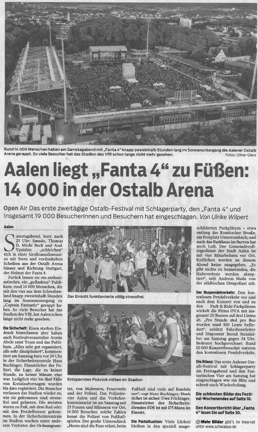 """Aalen liegt """"Fanta 4"""" zu Füßen"""