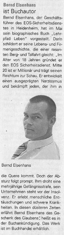 Bernd Elsenhans ist Buchautor